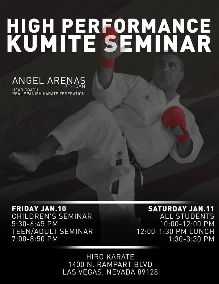 Seminario de Kumite en las Vegas