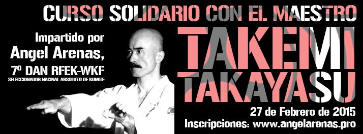 Curso de Kumite deportivo en agradecimiento a Sensei Takemi Takayasu