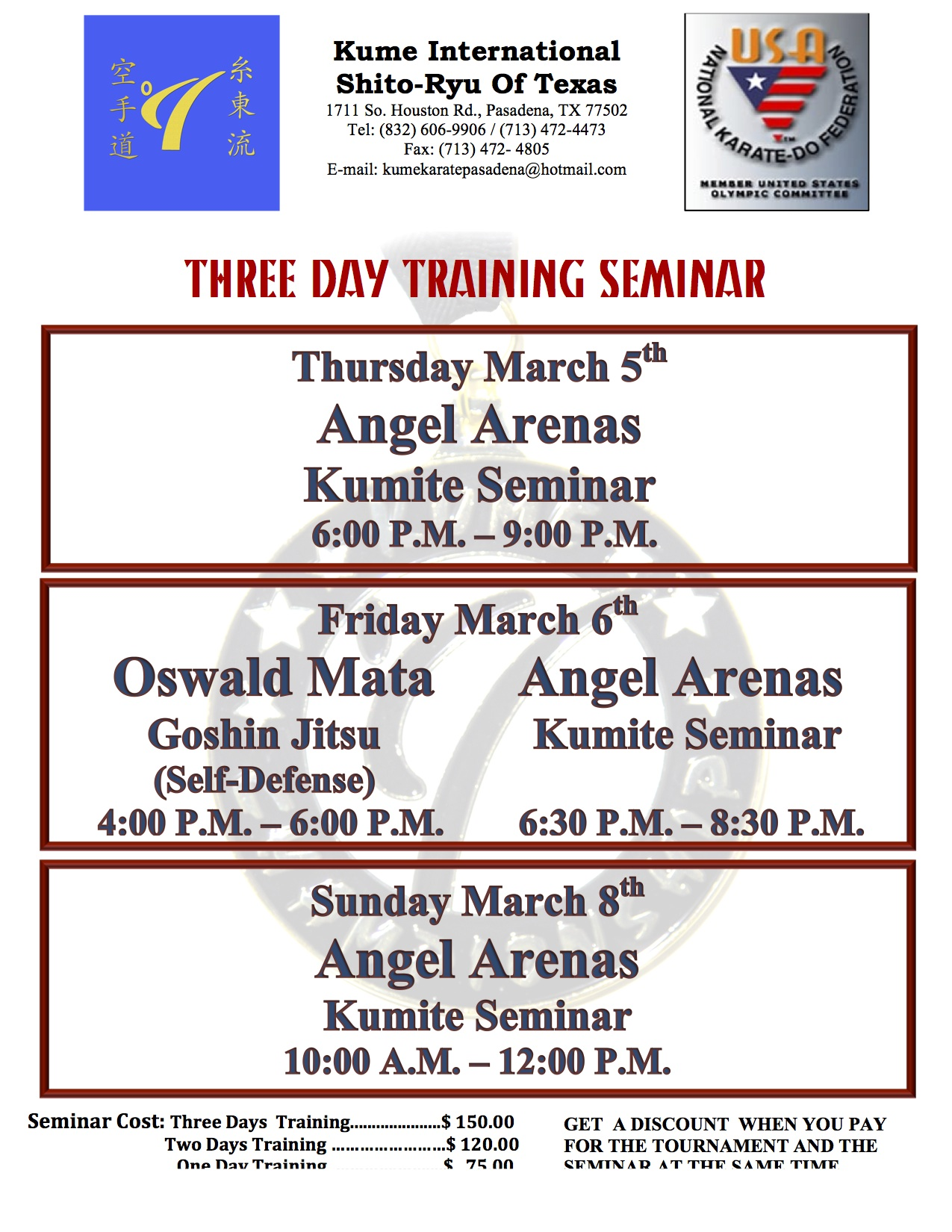 Tomodachi 2015 Seminars with Angel Arenas and Oswald Mata