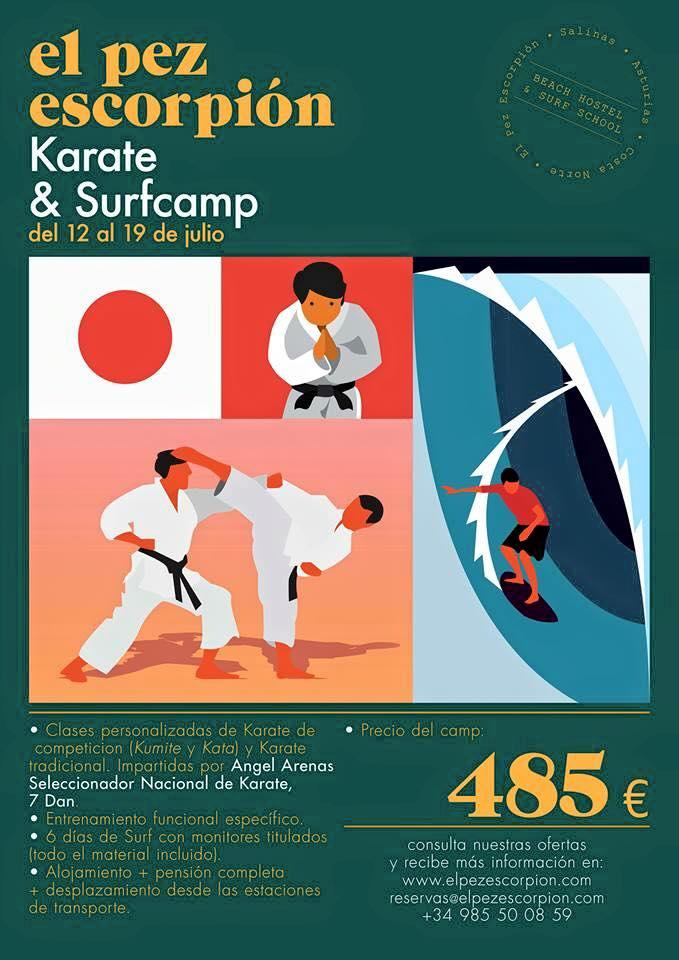 Curso de Surf y Karate en salinas – Asturias