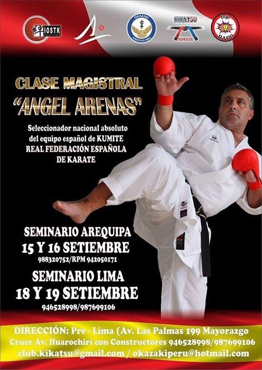 Curso de Karate en Peru – Arequipa 15 y 16 y  Lima 18 y 19 de septiembre