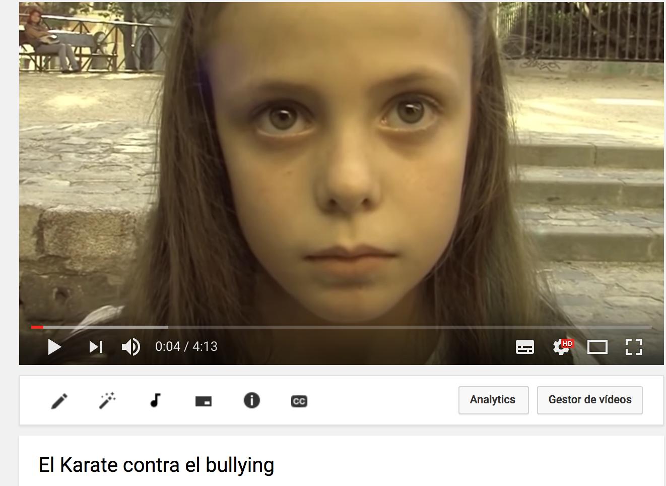 El karate para combatir el Bullying